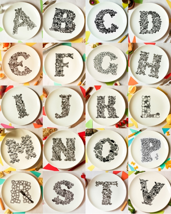 Alphabet Plates