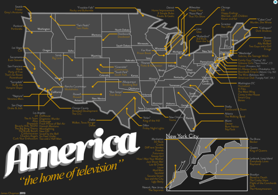 Map of US TV Shows
