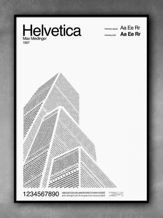 Helvetica building
